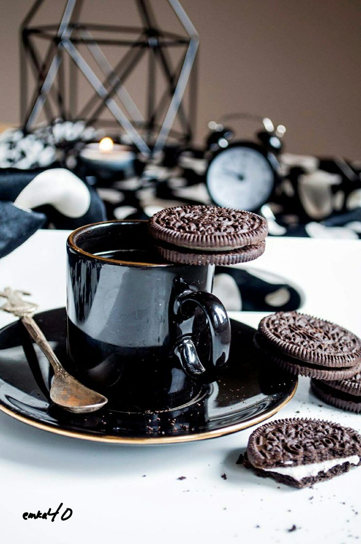 Coffee with oreo...pleasure