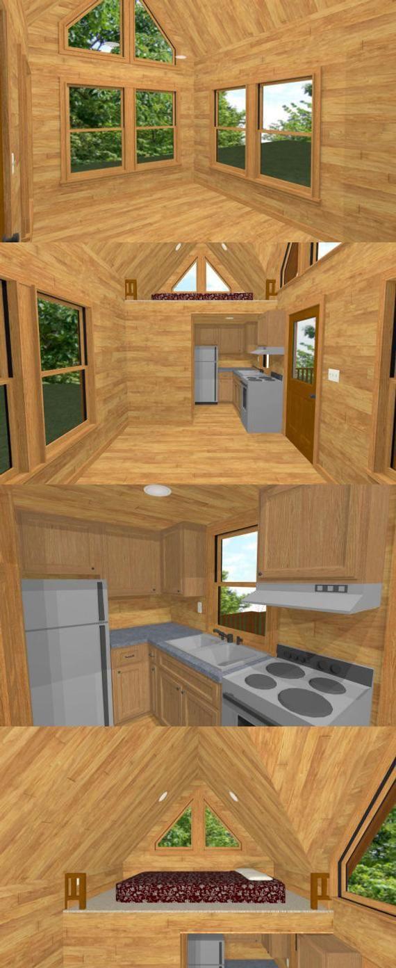 20x10 Tiny House 1 Bedroom 1 Bath 266 Sq Ft Pdf Floor Etsy In 2020 Cheap Tiny House Tiny House Loft Off Grid Tiny House
