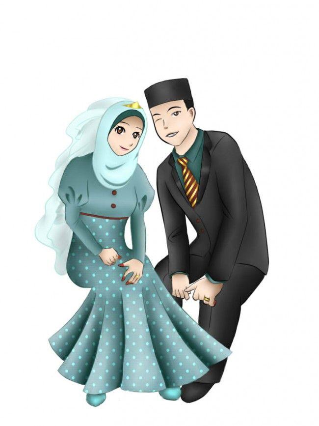 Muslim Newly Wed Couple (Manga & Anime Style Drawing)