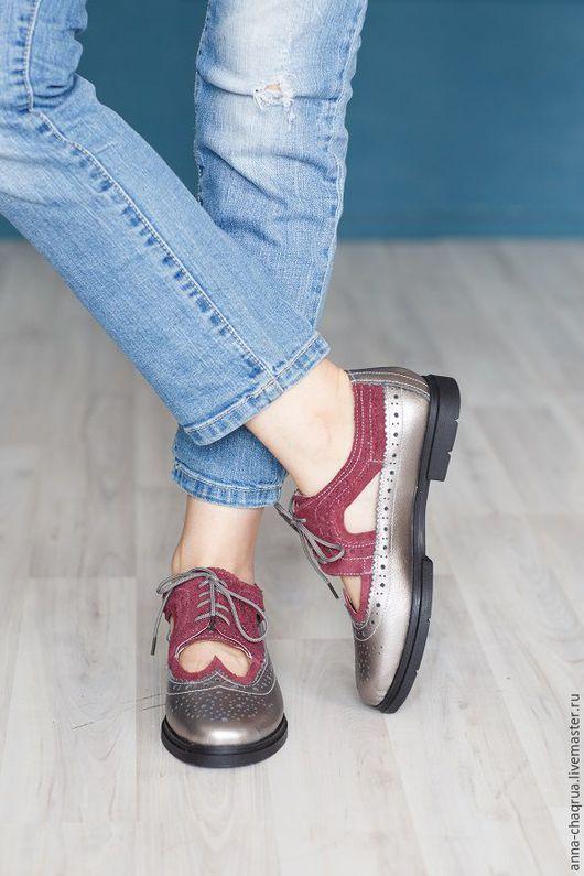 Обувь ручной работы. Женские броги Anna Chaqrua. Anna Chaqrua. Ярмарка Мастеров. Обувь на заказ, натуральная кожа