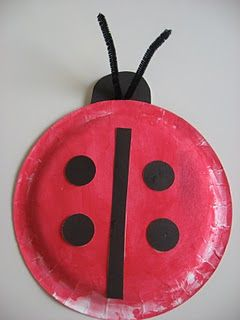 Ladybug Plate Kids craft tutorial! So cute and simple!