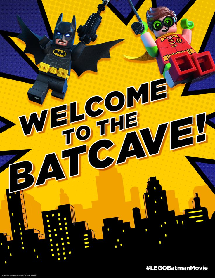 WELCOME TO THE BATCAVE! Of course I can't welcome just anyone into the batcave. It's a very select group. But when you have visitors to YOUR batcave, you can welcome them in style. Click here to print!
