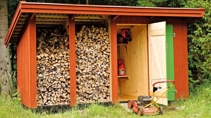 Fullt i garaget – eller dålig förvaring i fritidshuset? Bygg en klassisk bod, som rymmer såväl ved som tomburkar.