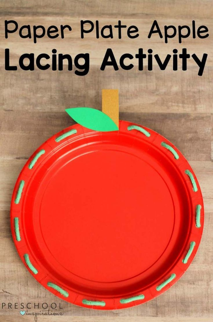 How To Make A Paper Plate Apple Lacing Activity For Preschoolers  sc 1 st  Pinterest & 671 best PAPER PLATE CRAFTS FOR KIDS images on Pinterest | Crafts ...