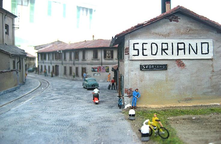 plastico dedicato al percorso del Gamba de Legn realizzato dall'appassionato di ferrovie Ermano Sansa