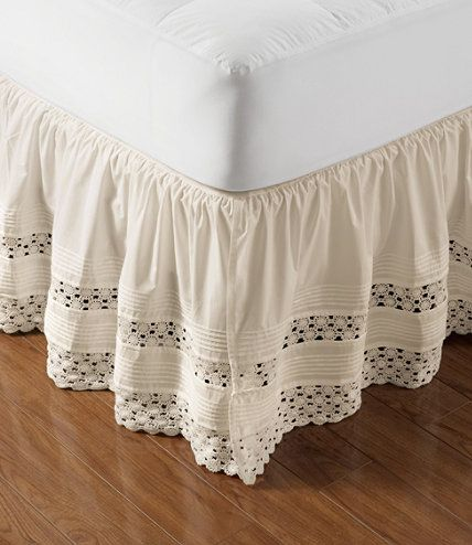 """Heirloom Crocheted Bed Skirt, 18"""" Drop: Bed Skirts 