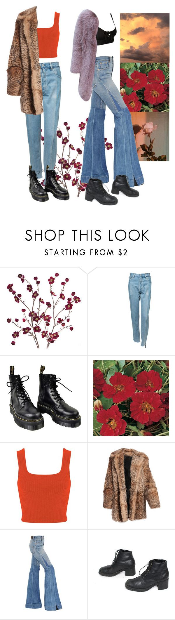 """Untitled #59"" by thisisawishlist ❤ liked on Polyvore featuring Cost Plus World Market, Vetements, Dr. Martens, Miss Selfridge, DKNY, Roberto Cavalli and Puma"