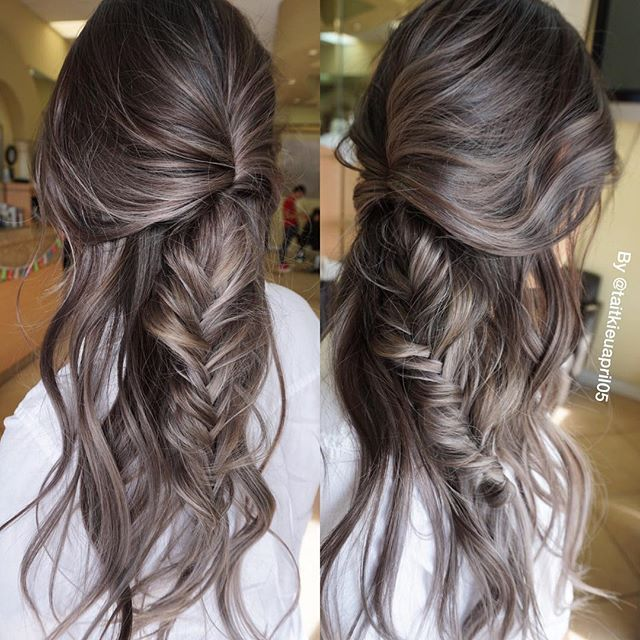 GREY MELTING TO SILVER Braid by @kinghaircom Get #hairextension from @kinghaircom to add volume and length in minutes! Fresh your daily hair looking at www.kinghair.com