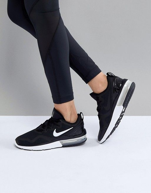f42a67cb002 Nike Running Air Max Fury Trainers In Black And White