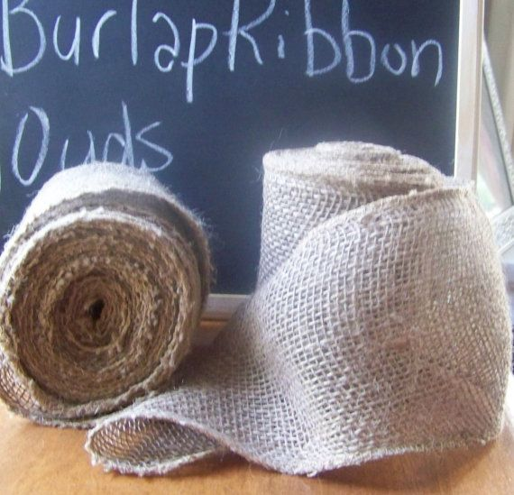 Burlap Ribbon 5 WideChair SashBurlap by sugarplumcottage on Etsy, $8.00