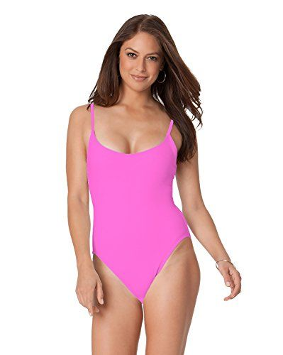 """Special Offer: $31.20 amazon.com Anne Cole 1982 Vintage High Leg Maillot One Piece Swimsuit 82% Nylon/ 18% Spandex Higher leg cut Slightly shorter torso Slim fitting Non- adjustable straps Shelf bra- no cups SKU: 15MO038/16MO038 Model is in a size S. Model is 5′ 09"""", bust 34B,..."""