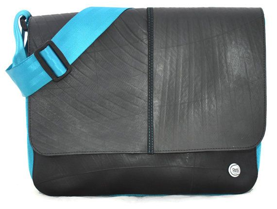 Recycled Tiretube Messenger Bag by TheSpottedDoor, $49.99