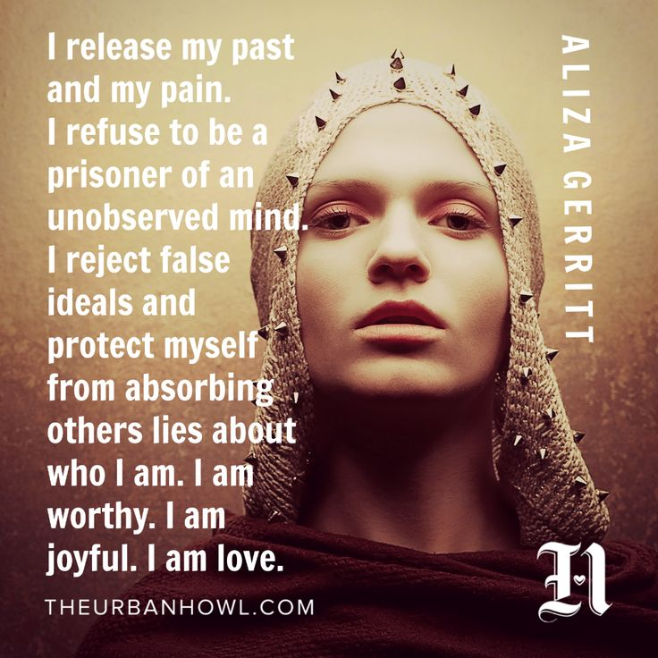 A Warrior's Affirmation: I Release My Past And My Pain