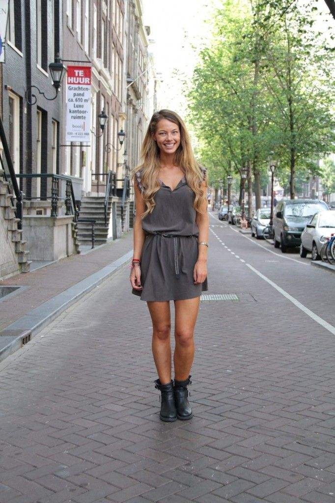 Get the Amsterdam Street Style look, Amsterdam Street Style, Street Style, biker boots, boots