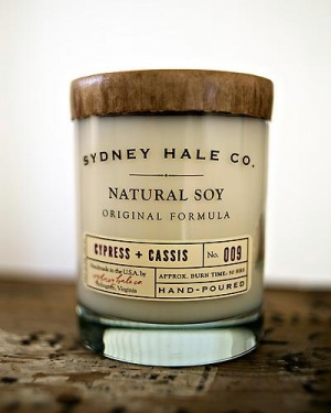 Sydney Hale Cypress Cassis Candle, $26.Sydney Hale, Homemade Candles, Vintage Packaging, Wholesaling Offices, Beautiful Packaging, Address Labels, Candles Labels, Soy Candles, Offices Supplies