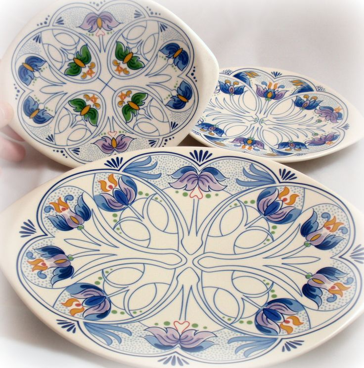 Gouda Pottery Plates Amata MS Prinsendam Ltd Ed HP Pieces 3 109.99