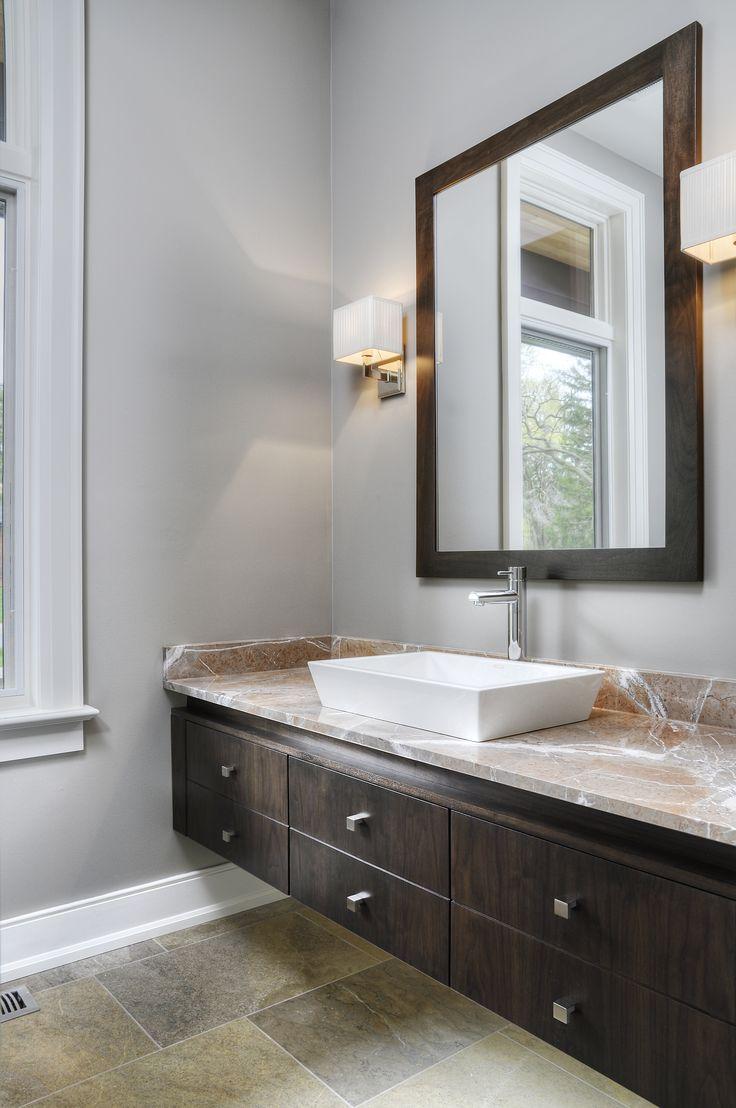 vanity walnut flat panel custom floating vanity with on vanity for bathroom id=51912
