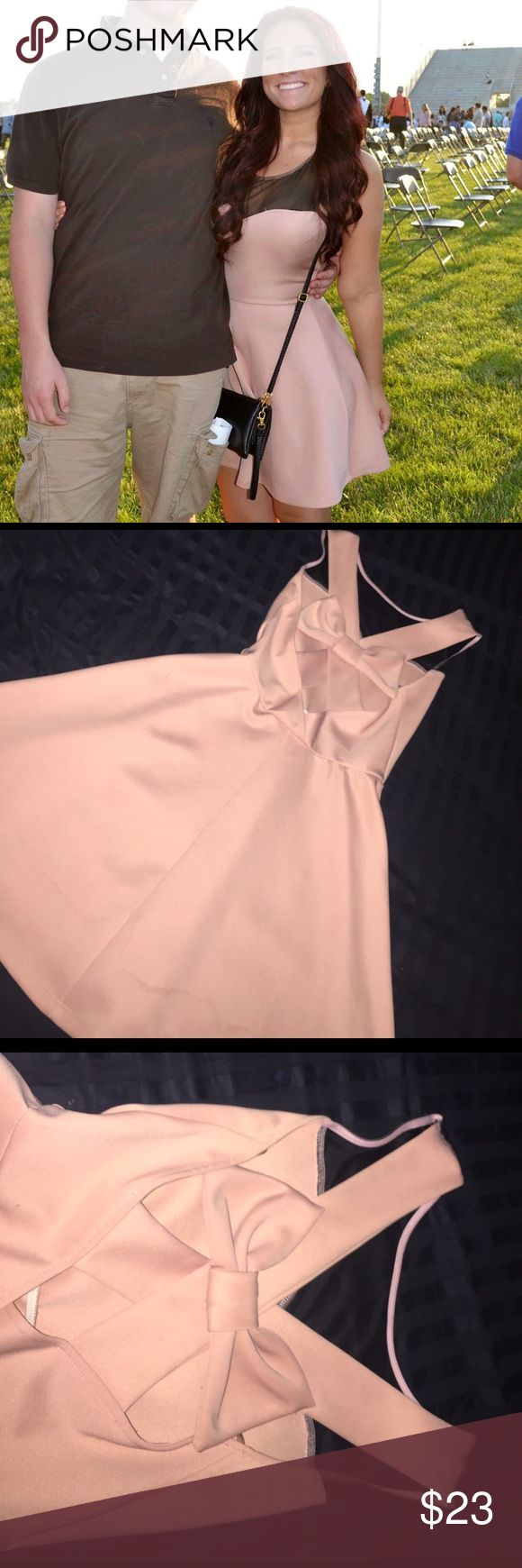Light pink dress Light pink dress with a cris cross back and bow Dresses