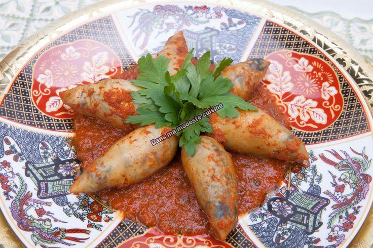 Tajine d'encornets farcis...et Ramadan Moubarak à tous les musulmans - Dans ma modeste cuisine
