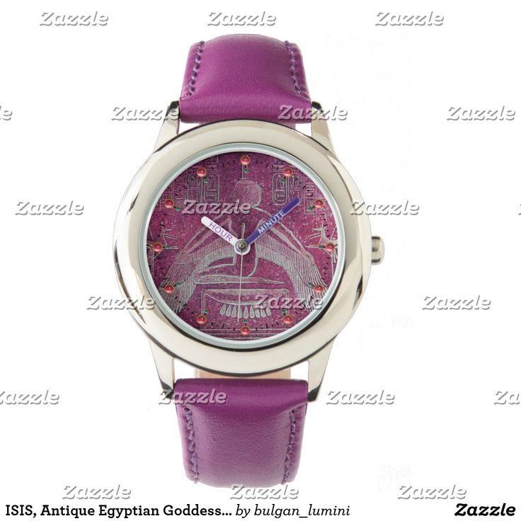 ISIS, Antique Egyptian Goddess  Purple White Wrist Watch #beauty #fashion #watches #egypt #watches