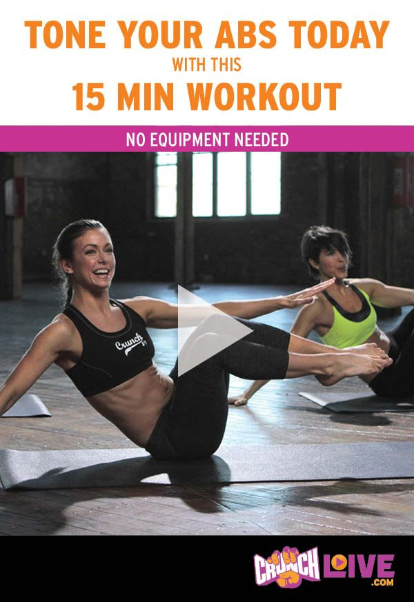 Tone your abs today with this FREE 15-minute no equipment needed ab workout video. Love this video? Get fit for summer while having lots of fun with more Crunch Live online workouts at CrunchLive.com! From cardio and strength training to pilates, yoga and barre – there's a workout that's perfect for everyone.   Start your FREE 3-day trial today! #CrunchLive