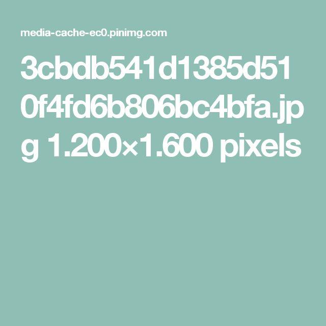 3cbdb541d1385d510f4fd6b806bc4bfa.jpg 1.200×1.600 pixels