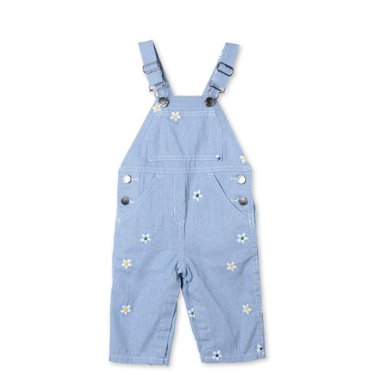 Striped Daisy Olive Dungarees - STELLA MCCARTNEY KIDS