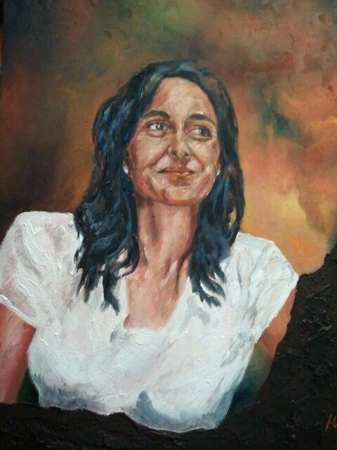 Portrait. Oil on wooded board with mix tecnic by Jesús Ojeda