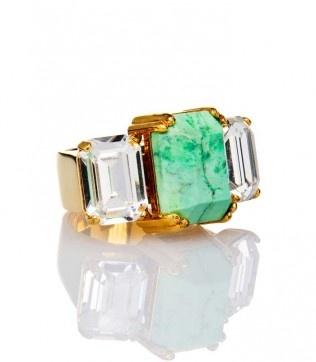 @HouseofLavande @Swarovski + stone cocktail ring avail. @PAIRE.us #fashion #jewelry