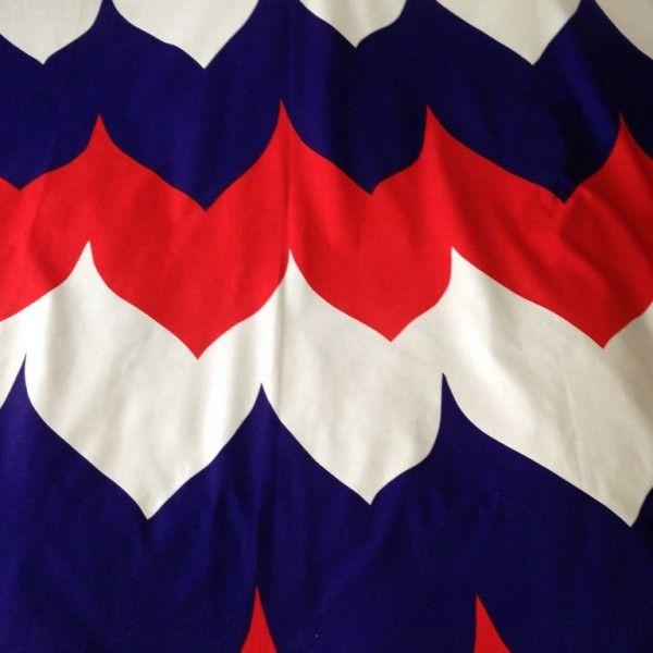 FIN-HELEN Finland, dec Kupolit, vintage cotton fabric