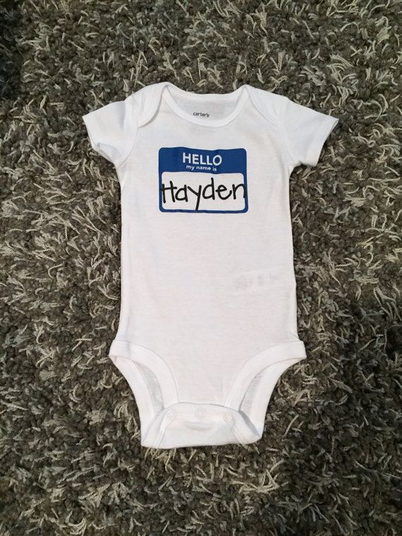Hello My Name Is... Onesie Personalized Baby by SamanthaAnneStudio