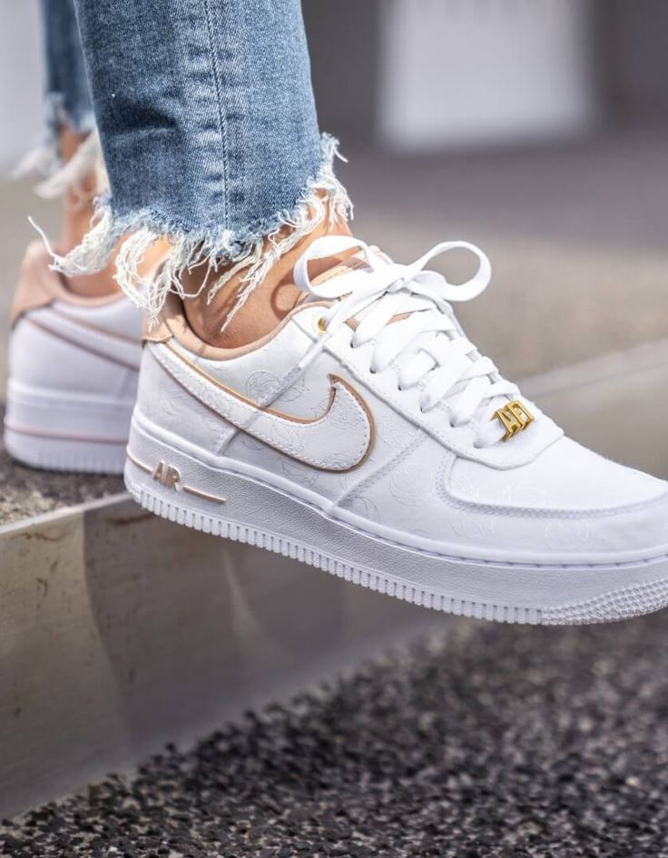 Nike Air Force 1 '07 LX White/Bio Beige sneakers. | Nike air force ...