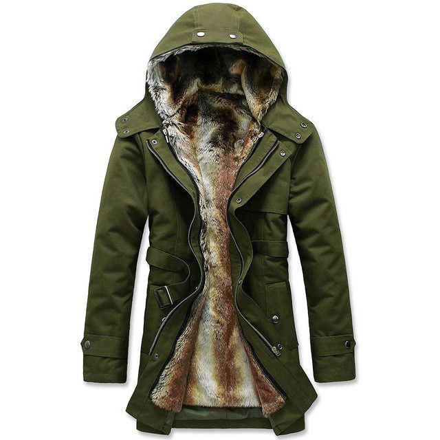 New Arrive winter jackets men's wadded jacket warm coat wool hooded slim winter jacket for men overcoat