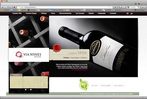 Web VIA Wines by Walter Rojas Gacitúa, via Behance
