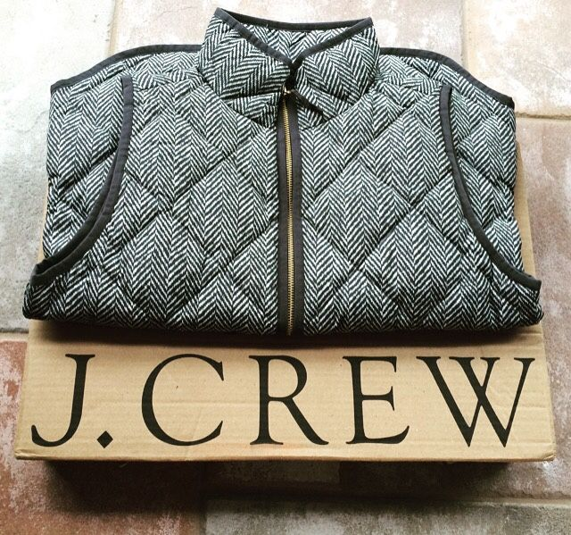 quilted herringbone vest #jcrew
