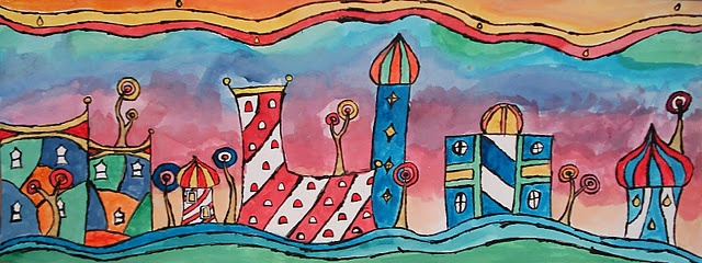 Hundertwasser town - fanstasy buildings