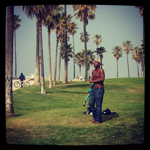 Just one of the many unique locals in Venice Beach, Los Angeles #venicebeach #losangeles