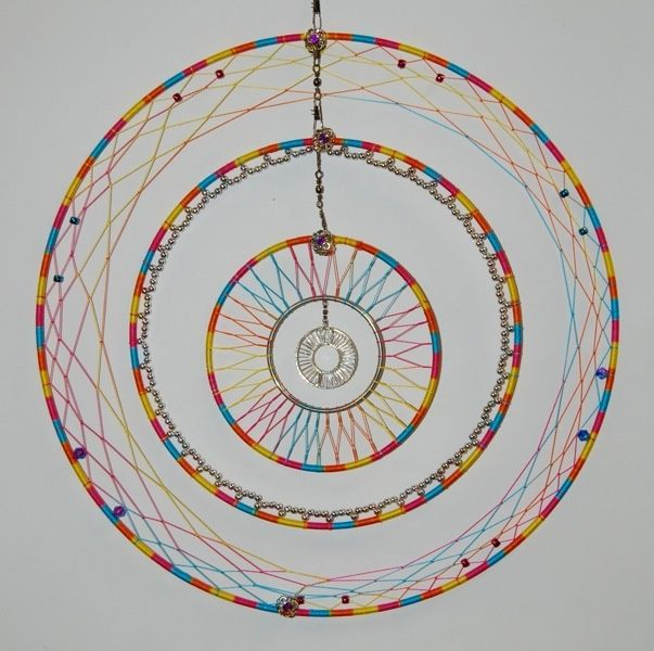 603 600 pixels for How to make a double ring dreamcatcher