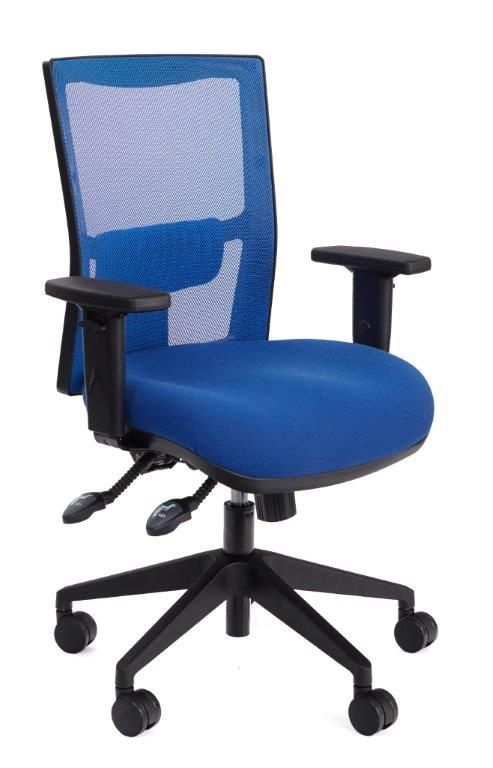 The Empact Vivid Mesh Chair features a supportive upright Mesh back that breathes and allows airflow #seated #officechair #mesh #modern seated.com.au