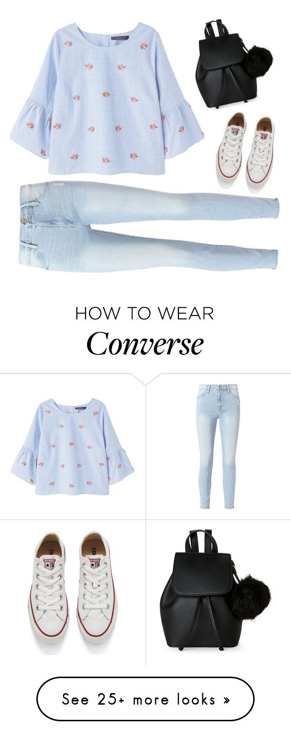 """""""¿Confused?"""" by treelights29 on Polyvore featuring Violeta by Mango, Frame, Converse and IMoshion"""