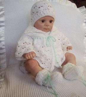 Little Fans Down Under, Baby Sweater To fit : Newborn to 3 Months Matching Hat, free crochet pattern Matching Bootie, free c...