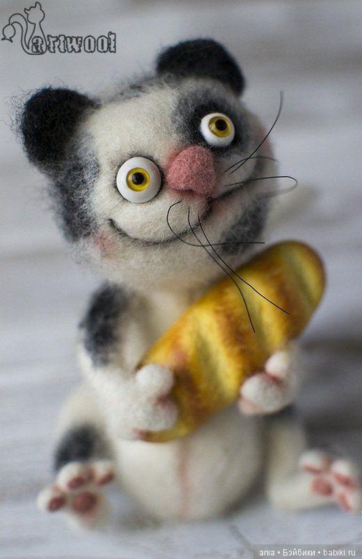 Валяные игрушки Натальи Кузнецовой. Посмотрите что появляется в результате творческих поисков — удивительно веселые животные, выполненные из шерсти в технике