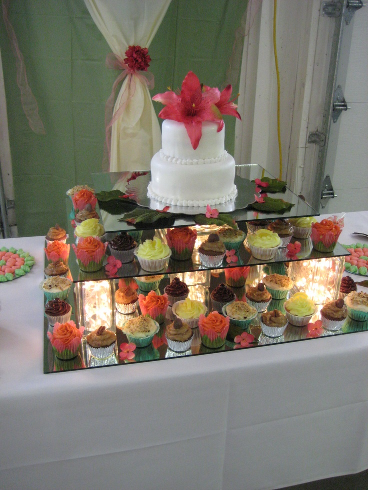 Lighted Glass Block Mirror Cake Amp Cupcake Stand Party Ideas Pinterest The Stand Kind Of And Glasses