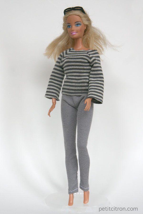 754a199fabc Nouveau patron pour Barbie   le sweat manches raglan