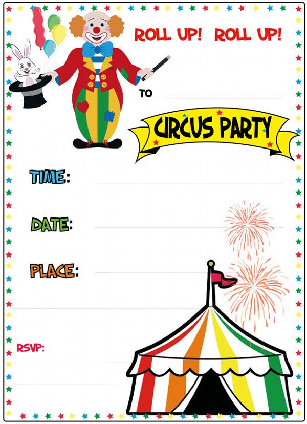 How Cute are these free printable Circus