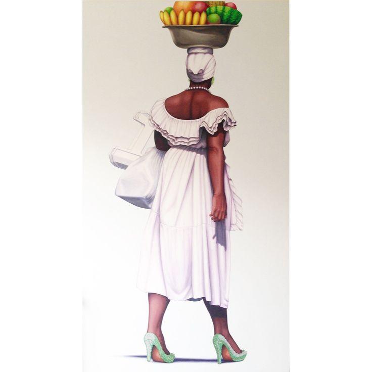 En busca de La Paz 190 x 110 cm Acrylic on canvas and swarovsky crystals