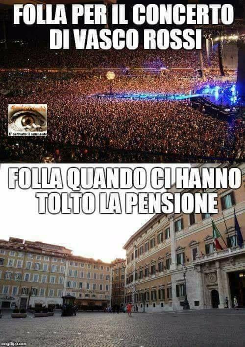 Vasco Rossi vs pensione e diritti... Altro che ridere, c'è da piangere