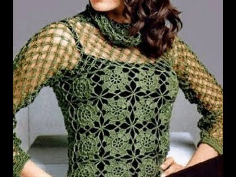 crochet blusa tutorial facil y rapida how to bluse(subtitles in several lenguage) - YouTube