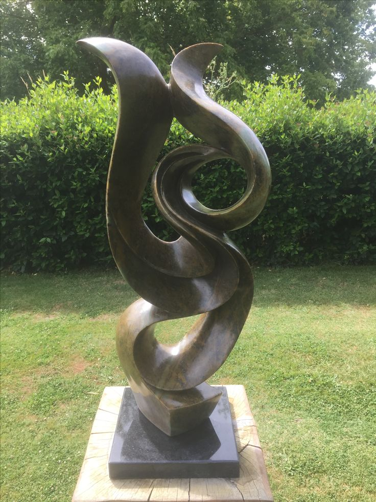 B51-014 Joining Together by Edmore Sango - Brown  Serpentine - 65cmh x 20 x 20cm - $680