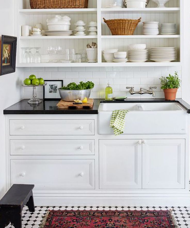 White Kitchen Shelf: Best 25+ Cottage Kitchens Ideas On Pinterest
